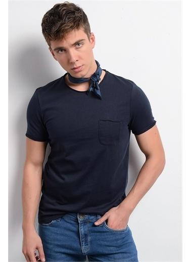 Rodi Jeans Erkek T-Shirt Fırçalı Süprem Cepli Bis. Yaka RD19YE279978 Lacivert